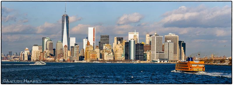 Manhattan- vanaf Staten Island Ferry tijdens fotoreis New York