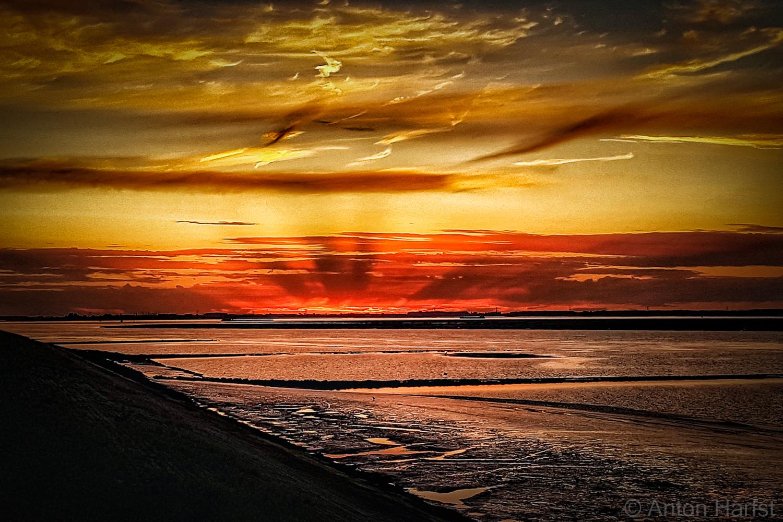 Gewoon een zonsondergang of kunst?