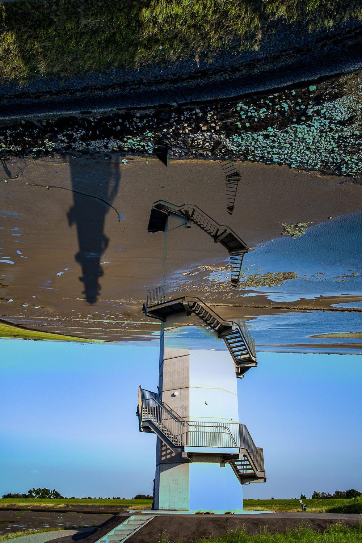 Meervoudige belichting bij radartoren aan de Westerschelde